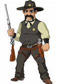 stock photo of gunslinger  - Wild west - JPG