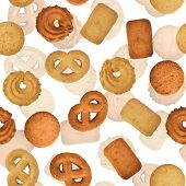 Danish Butter Cookies - Seamless Vector Texture