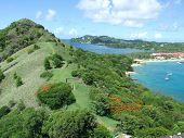 Ansicht von Pigeon Island, St. Lucia
