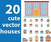 extra big vector house set v. 8