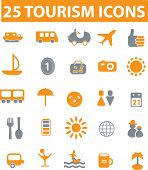 25 tourism vector icons. see more in portfolio