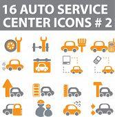 16 auto service center icons.#2. vector