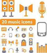 smart music signs. vector
