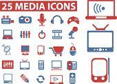 25 media icons. vector