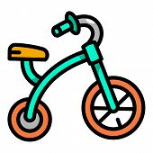 Pedal Tricycle Icon. Outline Pedal Tricycle Vector Icon For Web Design Isolated On White Background poster