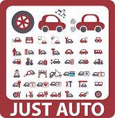 auto signs. vector