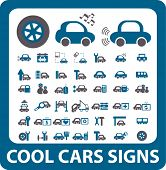 cool cars signs. vector