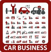 40 car business signs. vector