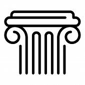 Ancient Greek Column Icon. Outline Ancient Greek Column Vector Icon For Web Design Isolated On White poster