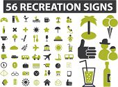56 recreation signs. vector
