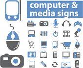 computer & media signs. vector