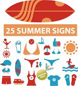 25 cute summer signs. vector