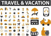 56 travel & vacation signs. vector