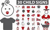 30 sinais de bebê profissional. vector