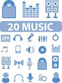 20 music signs. vector