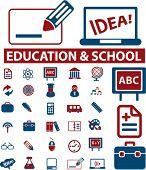 30 school & education signs. vector