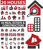 50 real estate & construction signs. vector