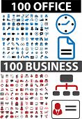 200 office & business signs. vector