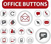 office buttons. vector