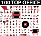 100 top office signs. vector