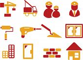 construction icons. signs, vector