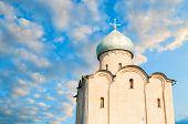 Veliky Novgorod, Russia. Saviour Church On Nereditsa - An Orthodox Church Built In 1198 poster