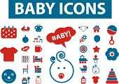 baby icons, signs, vector illustrations