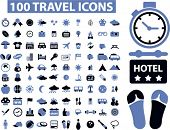 100 Reisen Icons Set, Vektor