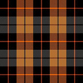 Halloween Tartan Plaid. Scottish Pattern In Black, Orange And Gray Cage. Scottish Cage. Traditional  poster