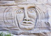 Gesicht In ein Sand-Klippe