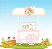 Illustration of an ice-cream cart - EPS VECTOR format also available in my portfolio.