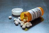 Prescription Bottle With Backlit Lorezapam Tablets. Lorezapam Is A Generic Prescription Anti-anxiety poster