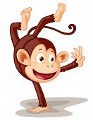 stock photo of chimp  - Illustration of a monkey on white  - JPG
