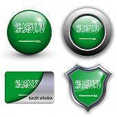 Saudi Arabia flag icons theme.