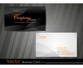 Abstract professional and designer business card template or visiting card set. EPS 10. Vector illus