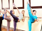 Women group in aerobics class.