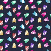 Vector Seamless Pattern With Fingernail Isolated On A Dark Blue Background poster