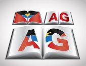 Concepto nacional de bandera de Antigua y Barbuda. Formato editable vector.