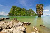 foto of james bond island  - Ko Tapu rock on James Bond Island - JPG