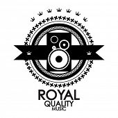 Black label royal quality music stamp