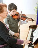 Violine-Lektion