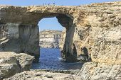Azure Window at Dwejra Bay in Gozo, Malta