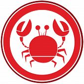 Red Circle Crab Logo