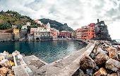 View Of Vernazza. Vernazza Is A Town And Comune Located In The Province Of La Spezia, Liguria, North