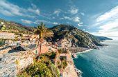 View Of Vernazza Seaside. Vernazza Is A Town In The Province Of La Spezia, Liguria, Northwestern Ita