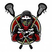 Mascote de lacrosse