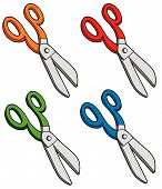 Various Colors Scissors