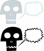 Talking Cartoon Skull