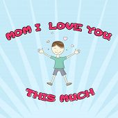 foto of you are awesome  - I Love You This Much Greeting card - JPG