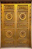 Golden Antique Door